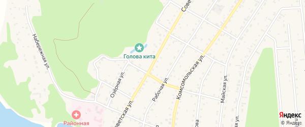Советская улица на карте села Турочак с номерами домов