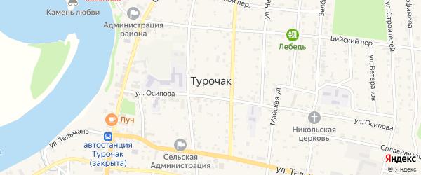 Улица Башунова на карте села Турочак с номерами домов