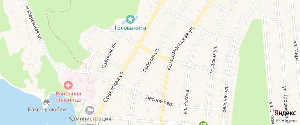 Рабочая улица на карте села Турочак с номерами домов