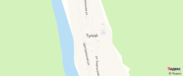Улица Имени Виктора Кыргызова на карте села Тулой с номерами домов