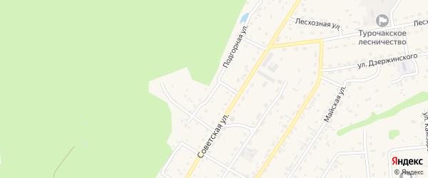 Подгорная улица на карте села Турочак с номерами домов