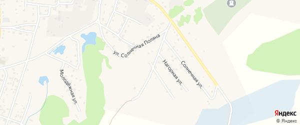 Улица Солнечная Поляна на карте села Турочак с номерами домов