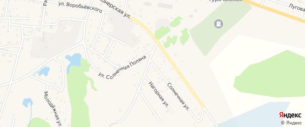 Солнечная улица на карте села Турочак с номерами домов