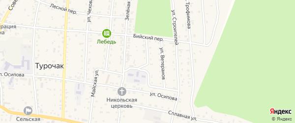 Трудовая улица на карте села Турочак с номерами домов