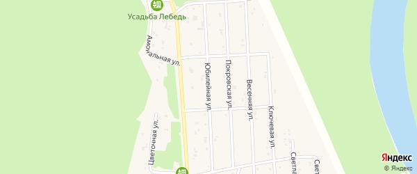 Юбилейная улица на карте села Турочак с номерами домов