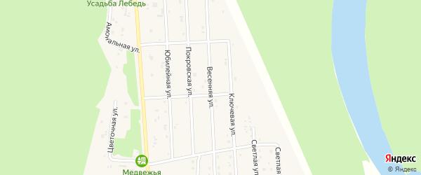 Весенняя улица на карте села Турочак с номерами домов