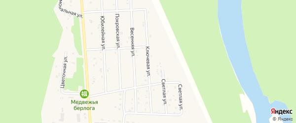 Ключевая улица на карте села Турочак с номерами домов