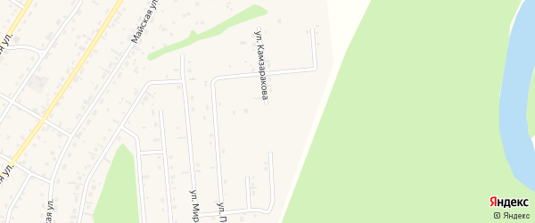 Улица Камзаракова на карте села Турочак с номерами домов