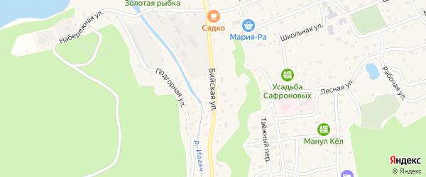 Бийская улица на карте села Иогач с номерами домов