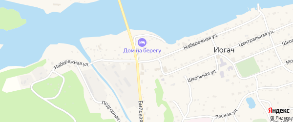 Набережная улица на карте села Иогач с номерами домов