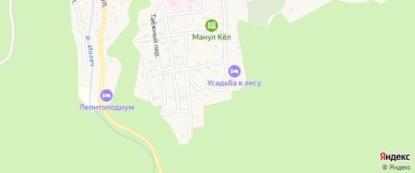 Улица Строителей на карте села Иогач с номерами домов