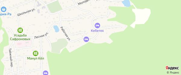 Рабочая улица на карте села Иогач с номерами домов