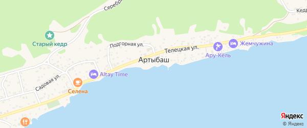 Радужный переулок на карте села Артыбаш с номерами домов