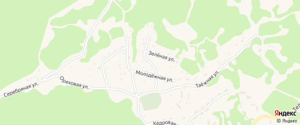Солнечный переулок на карте села Артыбаш с номерами домов