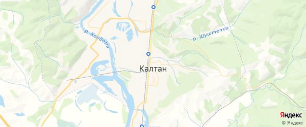 Карта Калтана с районами, улицами и номерами домов