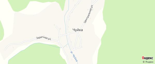 Береговая улица на карте села Чуйки с номерами домов