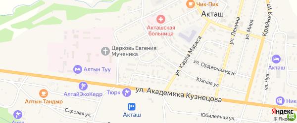 Улица Зяблицкого на карте села Акташа с номерами домов