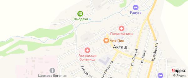 Парковая улица на карте села Акташа с номерами домов