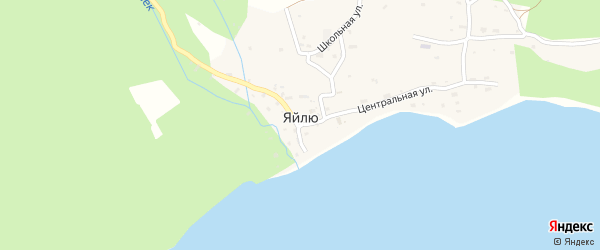 Улица Волчья Заимка на карте села Яйлю с номерами домов