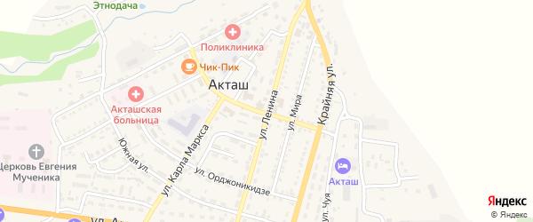 Улица Ленина на карте села Акташа с номерами домов