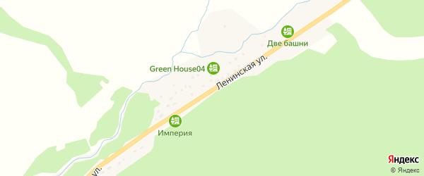 Ленинская улица на карте села Акташа с номерами домов