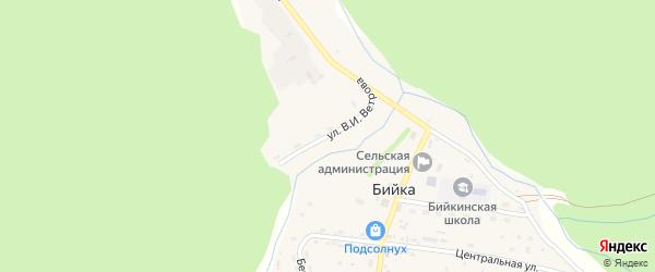 Улица Им В.И.Ветрова на карте села Бийки с номерами домов