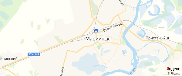 Карта Мариинска с районами, улицами и номерами домов