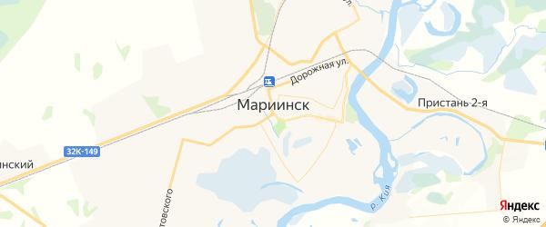 Карта Мариинска с районами, улицами и номерами домов: Мариинск на карте России