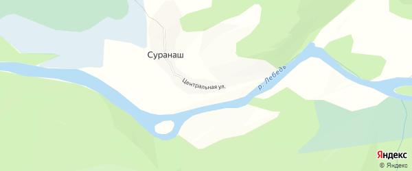Карта села Суранаша в Алтае с улицами и номерами домов