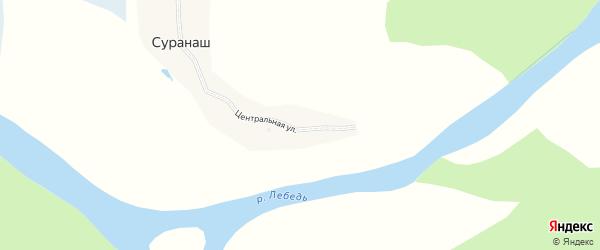 Центральная улица на карте села Суранаша с номерами домов