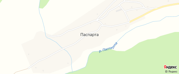 Заречная улица на карте села Паспарты с номерами домов