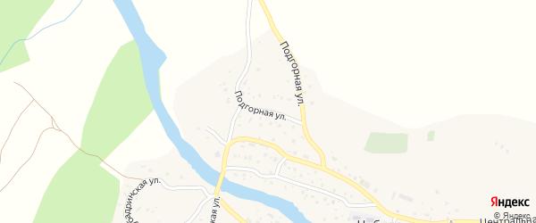 Подгорная улица на карте села Чибили с номерами домов