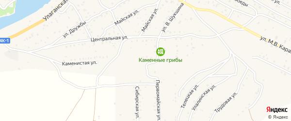 Каменистая улица на карте села Улагана с номерами домов