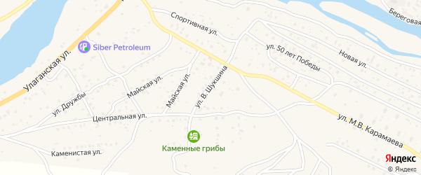 Улица В.Шукшина на карте села Улагана с номерами домов