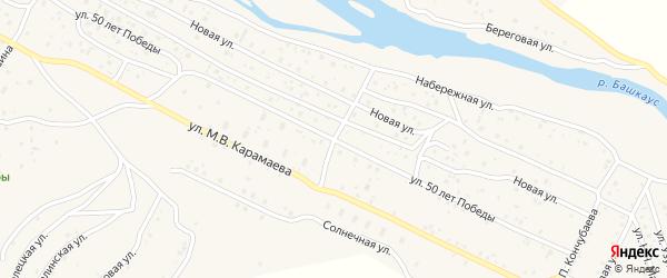 Улица 50 лет Победы на карте села Улагана с номерами домов