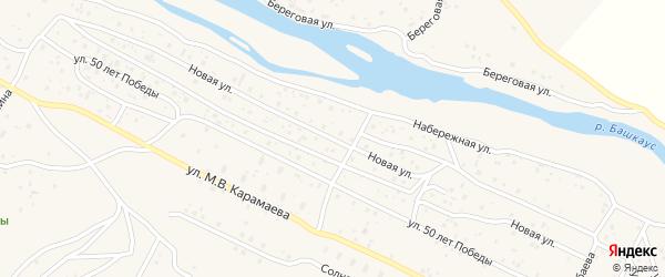 Новая улица на карте села Улагана с номерами домов