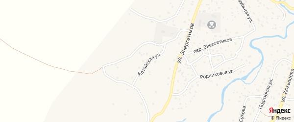 Алтайская улица на карте села Улагана с номерами домов