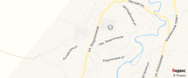 Улица Энергетиков на карте села Улагана с номерами домов