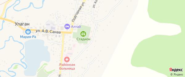 Улица Чорос-Гуркина на карте села Улагана с номерами домов