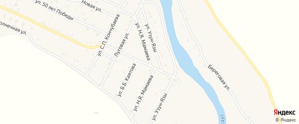 Улица Н.Я.Мамаева на карте села Улагана с номерами домов