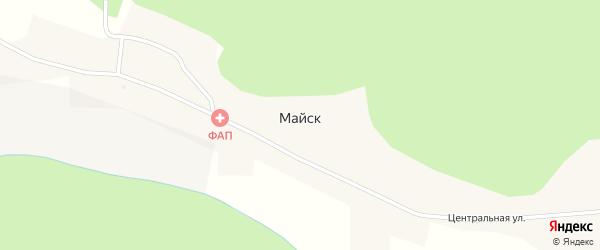 Центральная улица на карте села Майска с номерами домов