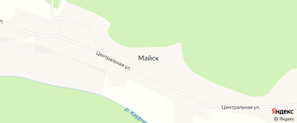 Лесная улица на карте села Майска с номерами домов