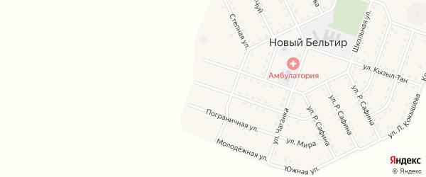 Новосельская улица на карте села Нового Бельтира с номерами домов