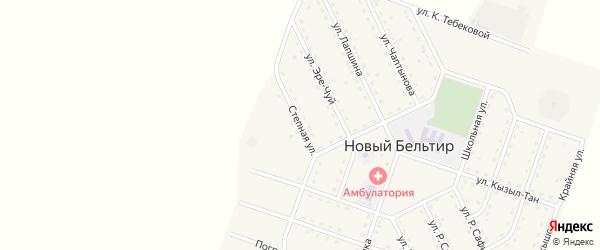 Степная улица на карте села Нового Бельтира с номерами домов