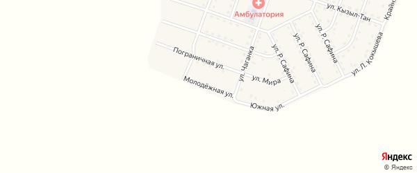 Молодежная улица на карте села Нового Бельтира с номерами домов