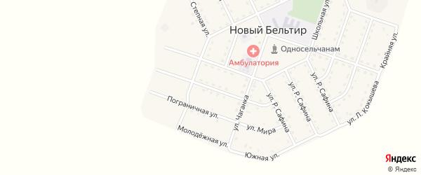 Улица Кара-Кем на карте села Нового Бельтира с номерами домов