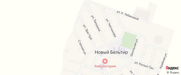 Улица Эре-Чуй на карте села Нового Бельтира с номерами домов