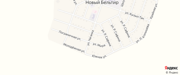Улица Чаганка на карте села Бельтира с номерами домов