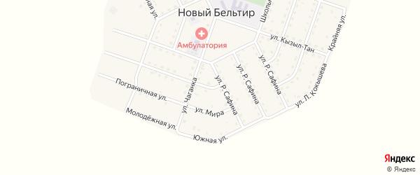 Улица Мира на карте села Нового Бельтира с номерами домов