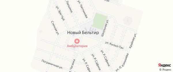 Улица 60 лет Победы на карте села Нового Бельтира с номерами домов